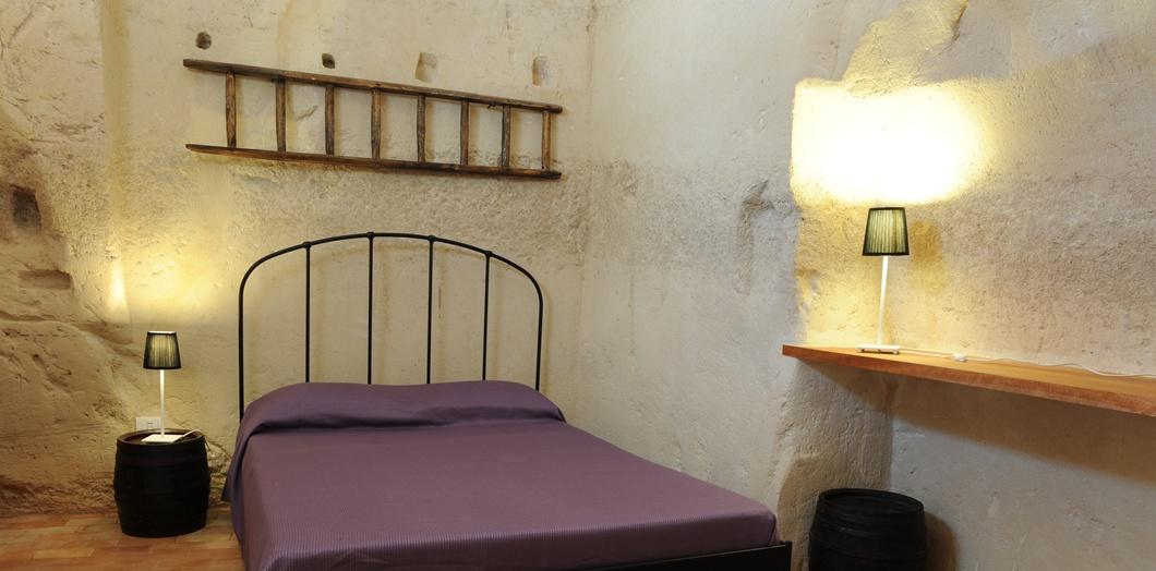B&B La Corte dei Pastori a Matera, camera roccia