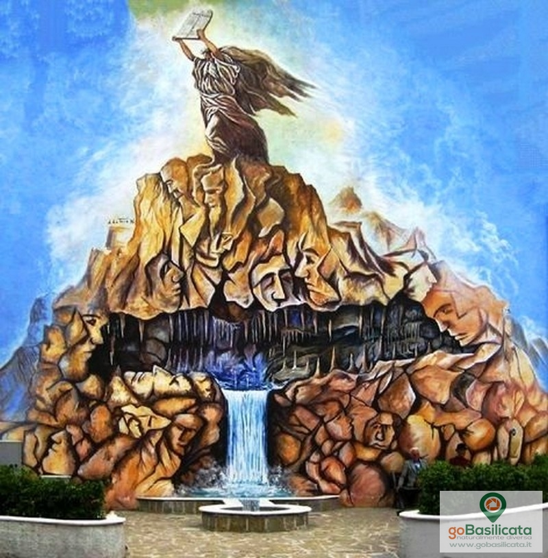 Il rapporto dell'uomo con la roccia e l'acqua- I murales di Sant'Angelo le Fratte
