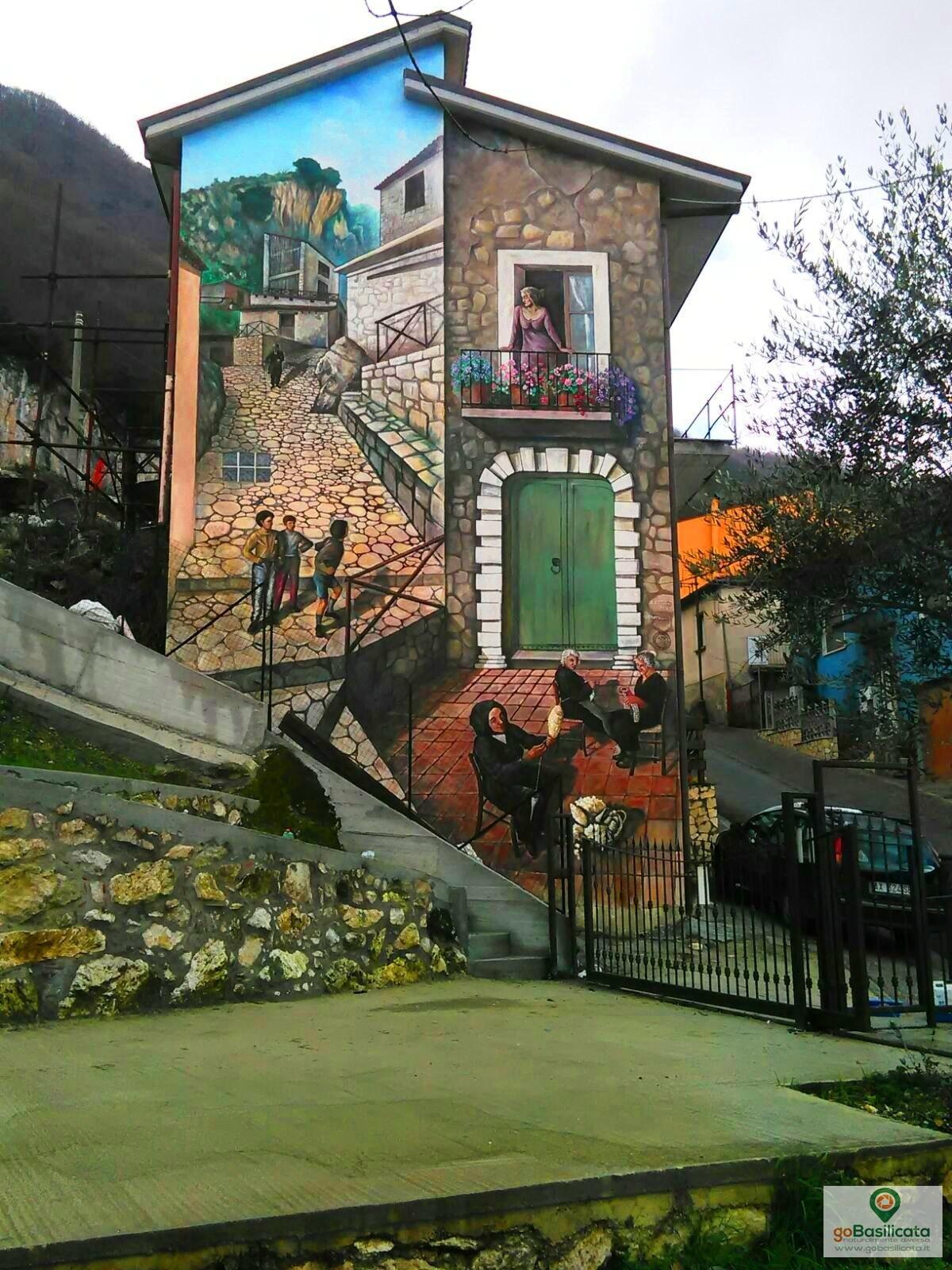 La filatura della lana - I murales di Sant'Angelo le Fratte