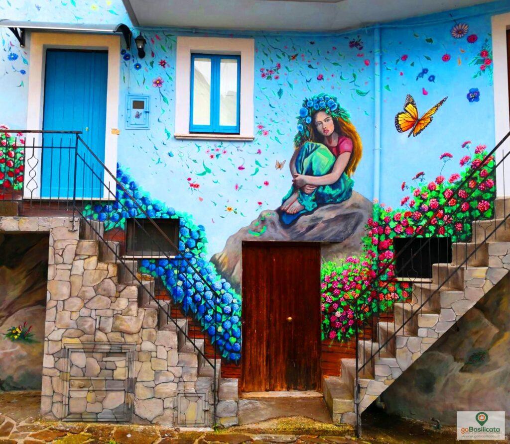 Lo splendido murale di Rue dei Fiori - I murales di Sant'Angelo le Fratte